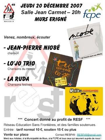 Affiche Concert soutien RESF 49