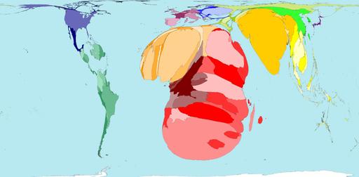 Carte du monde statistique VIH Sida