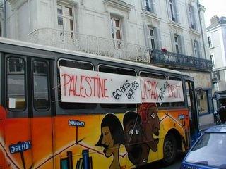 Bus itineraire sud Paix comme Palestine