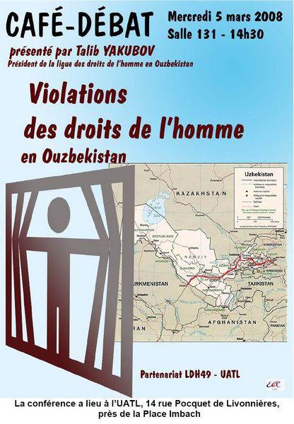 Conférence Violation des Droits de l'homme en Ouzbékistan
