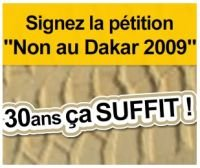 Non au Dakar 2009