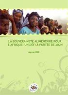 Couverture Souverainete alimentaire pour l'afrique
