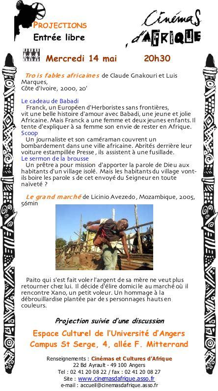 Cinéma d'afrique 14 mai 2008