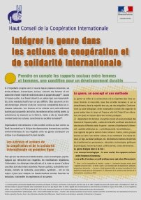 document genre et action de solidarité internationale
