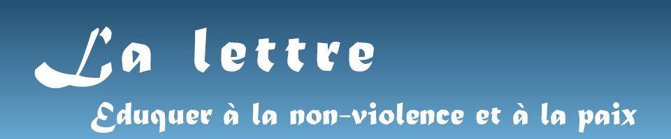 lettre eduquer à la non violence et à la paix