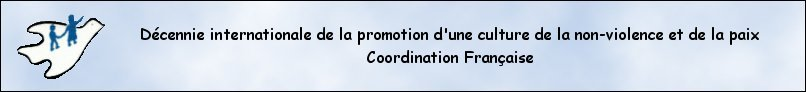 logo coordination de la decennie pour la promotion culture de la paix