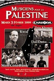 Concert angers musiciens pour la palestine