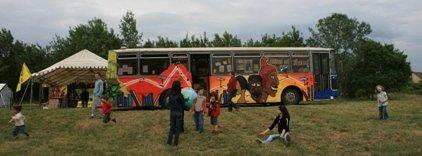 bibliobus Itineraire Sud a la fete bio 2009