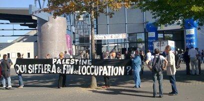 contre la colonisation israelienne en palestine manifestation afps49