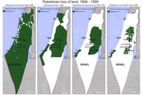 carte israel palestine