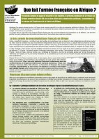 Que fait l'armée française en Afrique sinon etre le bras armé du néocolonialisme ?