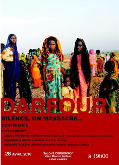 Darfour silence on massacre, conférence
