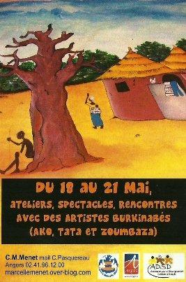 Affiche animations conte et accueil artistes burkina faso